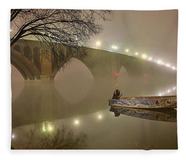 The Bridge To Nowhere Fleece Blanket