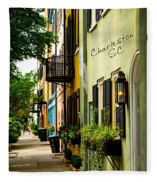 The Charm Of Charleston Fleece Blanket