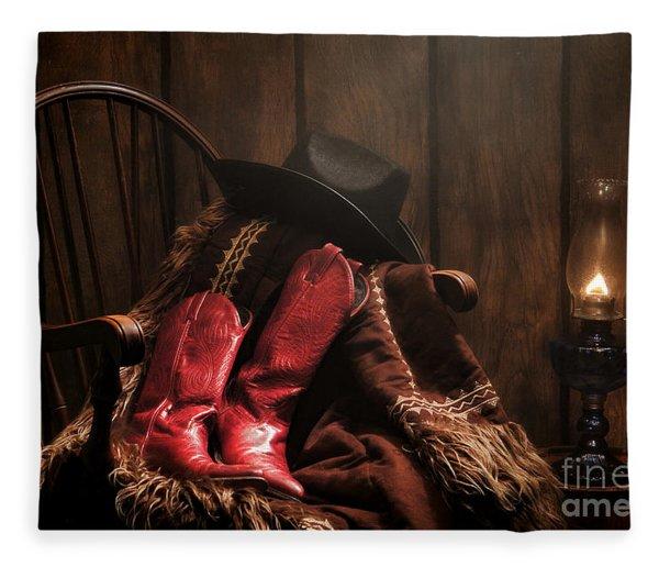 The Cowgirl Rest Fleece Blanket