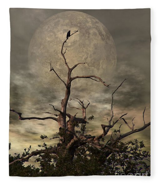The Crow Tree Fleece Blanket