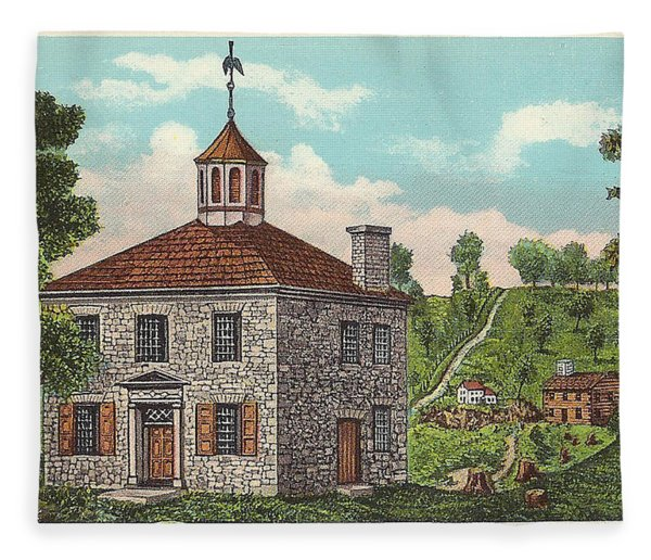 The First State Capitol Building - Chillicothe Ohio Fleece Blanket