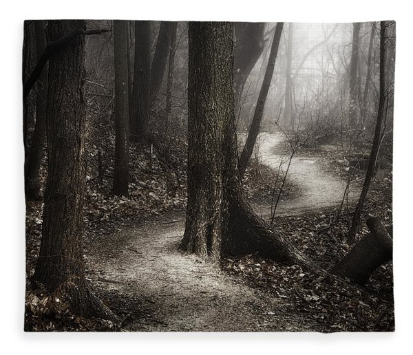 The Foggy Path Fleece Blanket