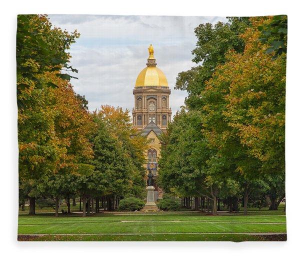 The Golden Dome Of Notre Dame Fleece Blanket