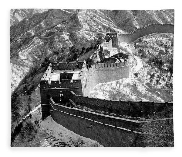 The Great Wall Of China Fleece Blanket