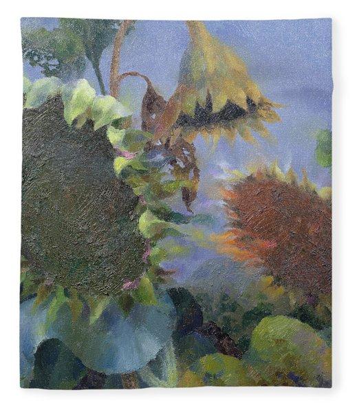 The Green Man At Seedtime, 1996 Oil On Canvas Fleece Blanket
