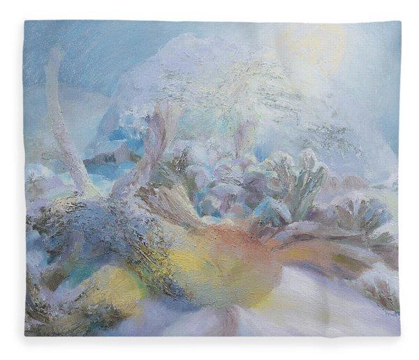 The Green Man By Moonlight, 1996 Oil On Canvas Fleece Blanket