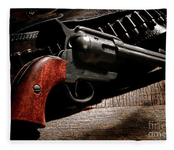 The Gun That Won The West Fleece Blanket