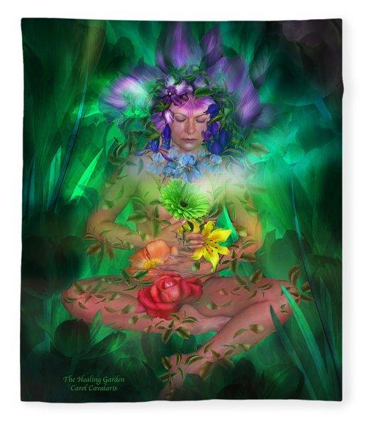 The Healing Garden Fleece Blanket