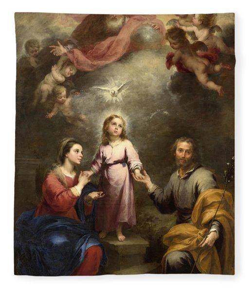 The Heavenly And Earthly Trinities Fleece Blanket