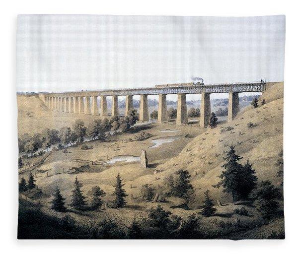 The High Bridge Near Farmville, Prince Fleece Blanket