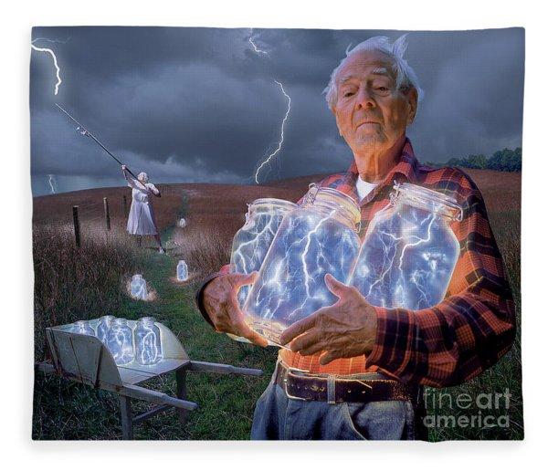 The Lightning Catchers Fleece Blanket
