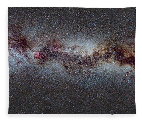 The Milky Way From Scorpio And Antares To Perseus Fleece Blanket