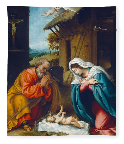 The Nativity 1523 Fleece Blanket