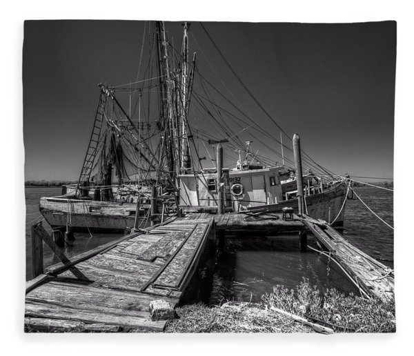 The Old Wharf In Brunswick Fleece Blanket