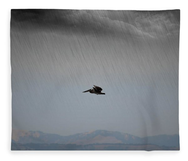 The Persevering Pelican Fleece Blanket