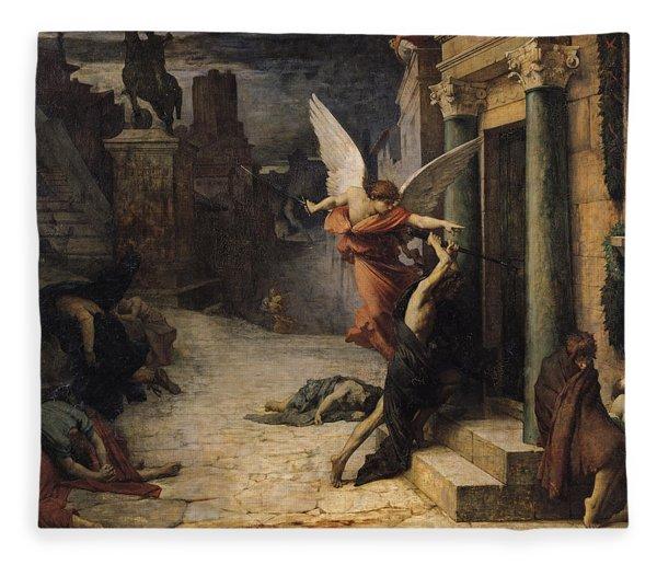 The Plague In Rome, 1869 Oil On Canvas Fleece Blanket