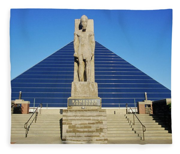 The Pyramid Sports Arena In Memphis, Tn Fleece Blanket