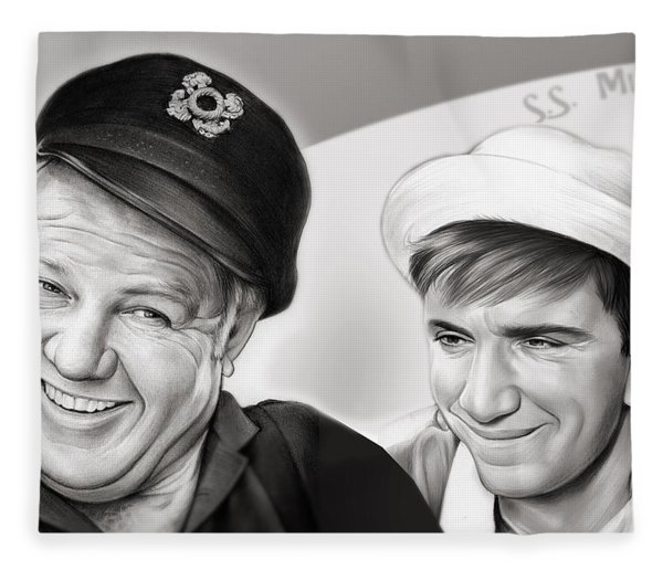 The Skipper And Gilligan Fleece Blanket
