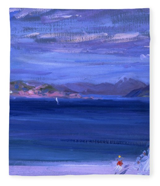 The Tale Of Mull From Iona Fleece Blanket