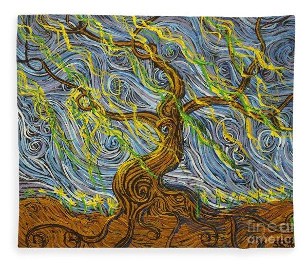 The Tree Have Eyes Fleece Blanket