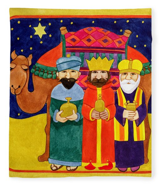 Three Kings And Camel Fleece Blanket