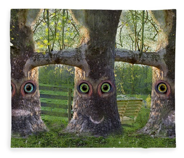 Three Trees Fleece Blanket