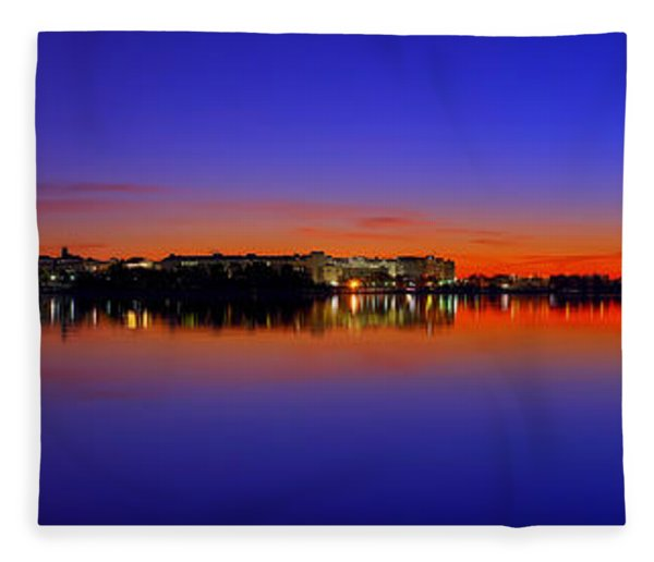 Tidal Basin Sunrise Fleece Blanket