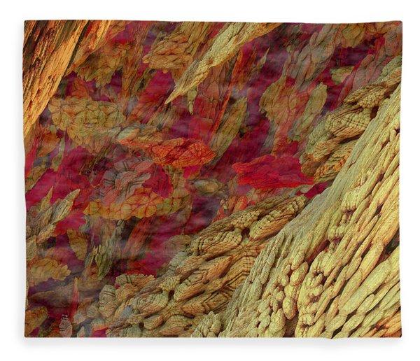Fleece Blanket featuring the digital art Tiny Expanse by Matt Lindley