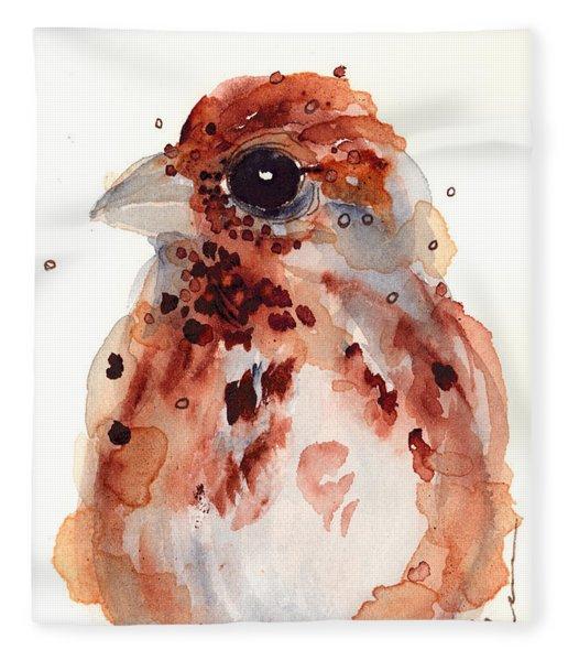 Tiny Sparrow Fleece Blanket
