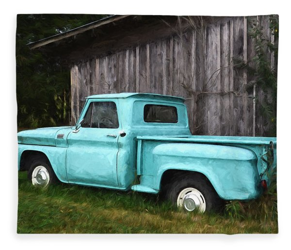 To Be Country - Vintage Vehicle Art Fleece Blanket