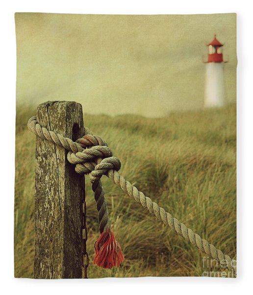 To The Lighthouse Fleece Blanket