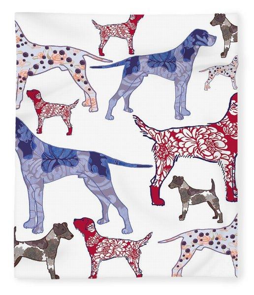 Top Dogs Fleece Blanket