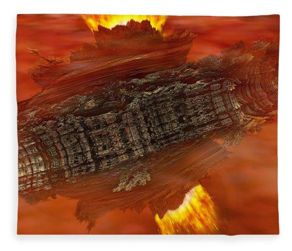 Fleece Blanket featuring the digital art Toroid by Matt Lindley
