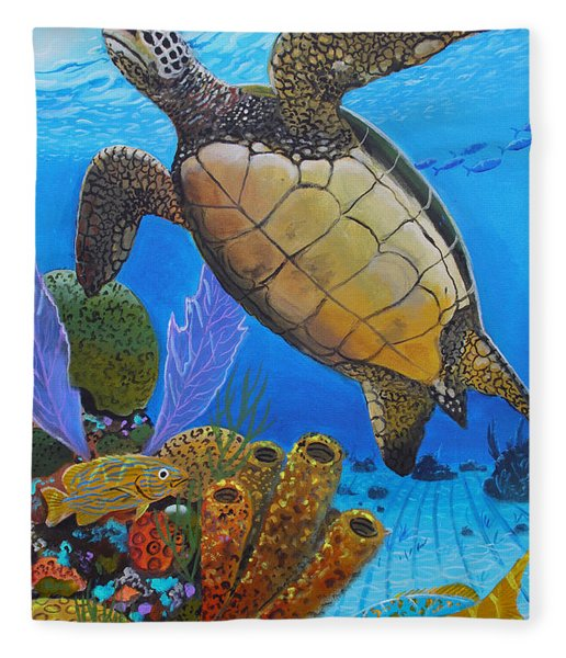 Tortuga Fleece Blanket