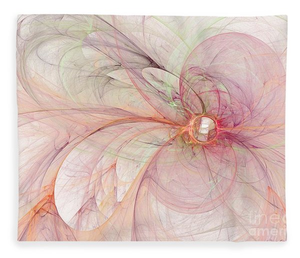 Fleece Blanket featuring the digital art Touched By An Angel by Sipo Liimatainen