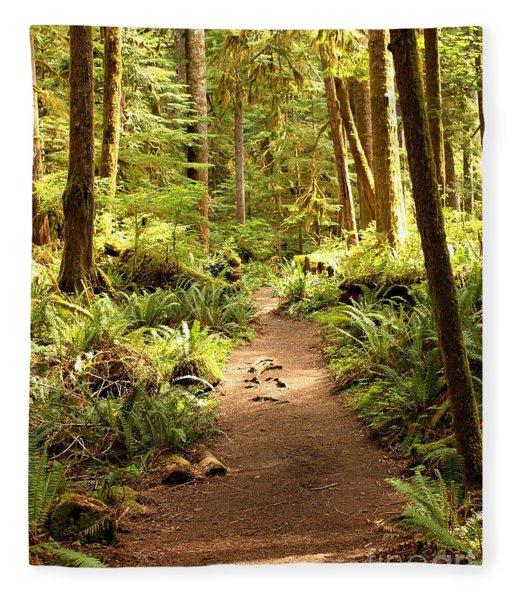 Trail Through The Rainforest Fleece Blanket