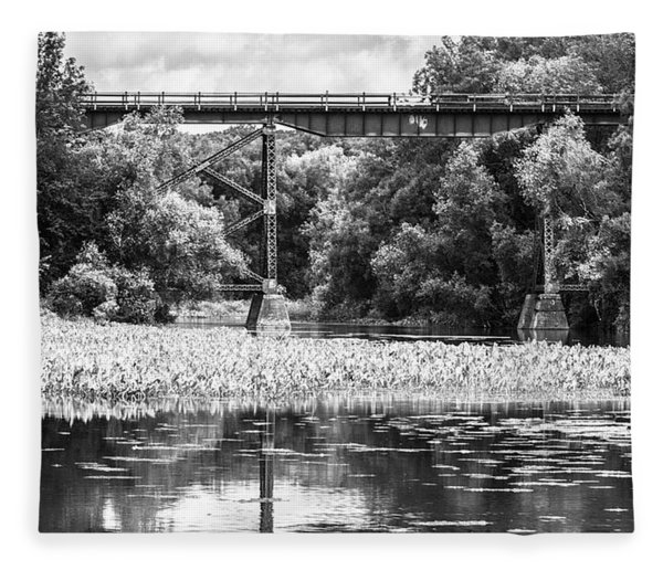 Fleece Blanket featuring the photograph Train Bridge by Garvin Hunter