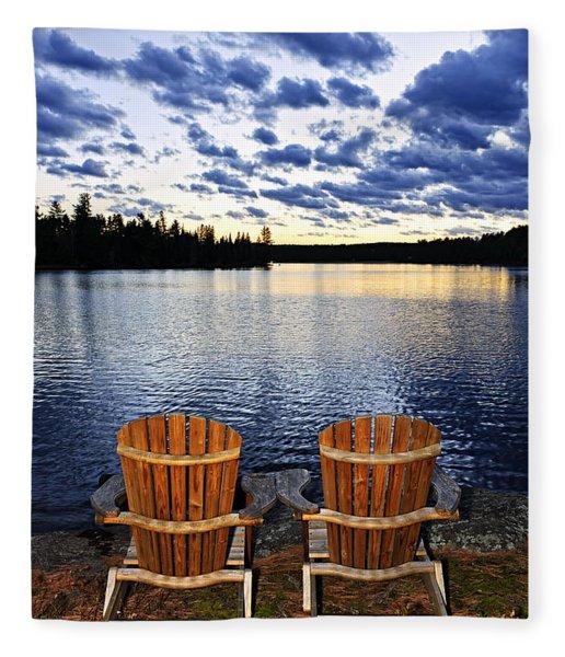Tranquility At Sunset Fleece Blanket