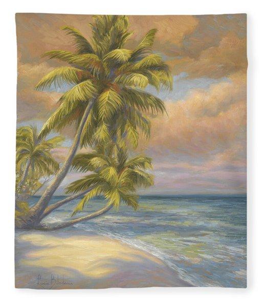 Tropical Beach Fleece Blanket