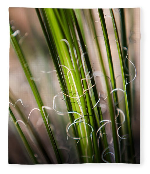 Tropical Grass Fleece Blanket