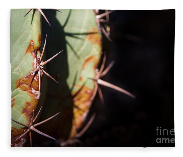 Two Shades Of Cactus Fleece Blanket