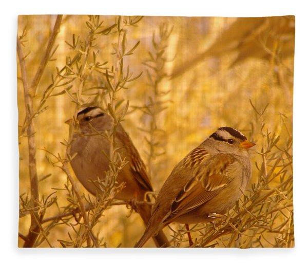 Two Small Birds Fleece Blanket