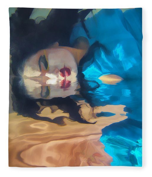 Underwater Geisha Abstract 1 Fleece Blanket