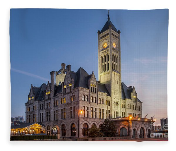 Fleece Blanket featuring the photograph Union Station  by Brian Jannsen