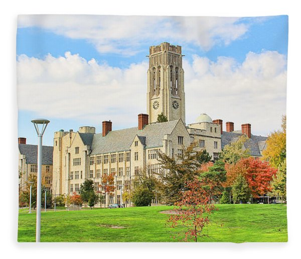 University Hall University Of Toledo 9206 Fleece Blanket