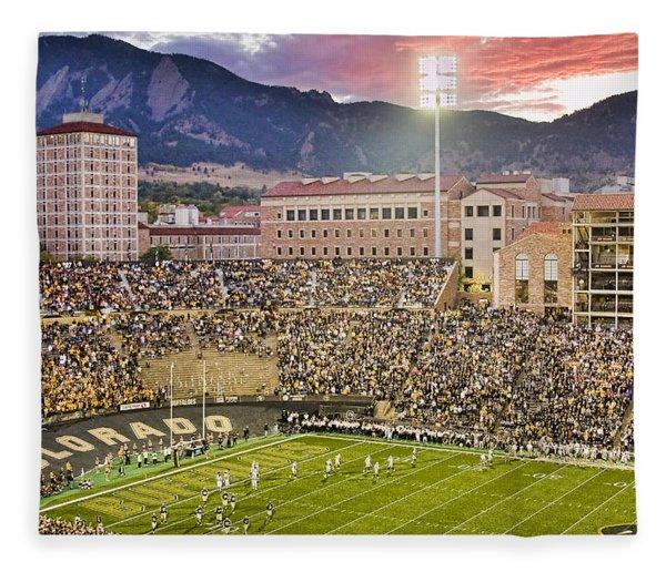 University Of Colorado Boulder Go Buffs Fleece Blanket