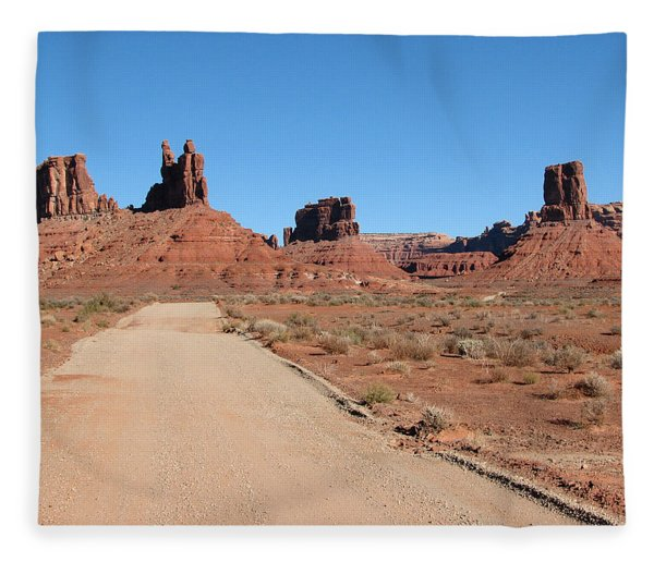 Valley Of The Gods Fleece Blanket