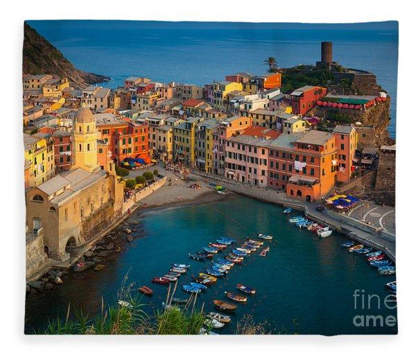 Vernazza Pomeriggio Fleece Blanket