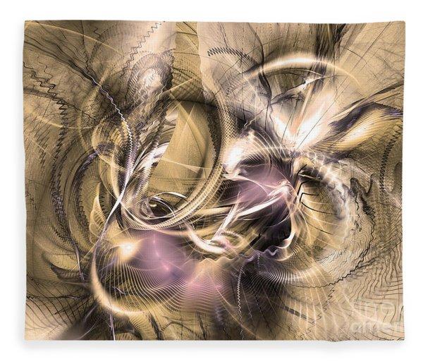 Fleece Blanket featuring the digital art Vestigium Aeternum - Abstract Art  by Sipo Liimatainen