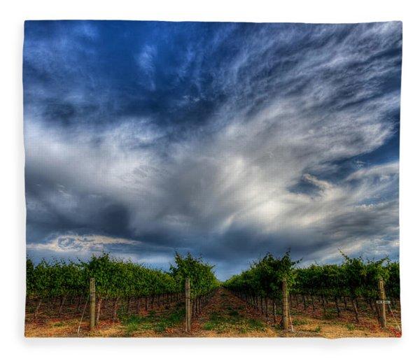 Vineyard Storm Fleece Blanket